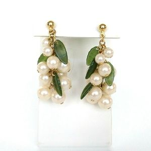 Avon Pearl Cluster Earrings